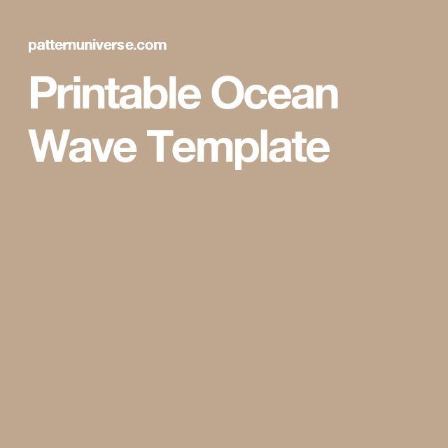 Printable Ocean Wave Template stencils Ocean waves, Waves, Free