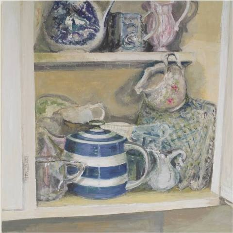 A new oil painting by a fab artist Anne Walmsley from our current gallery exhibition 'In My Cupboard' www.emerge-art.com.au
