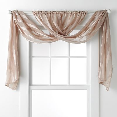 Daisy fuentes gold dust sheer window valance 20 x 84 - Pictures of different ways to hang curtains ...