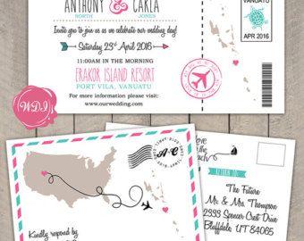Boarding Pass boda invitación viajes temáticos por WeDoInvites