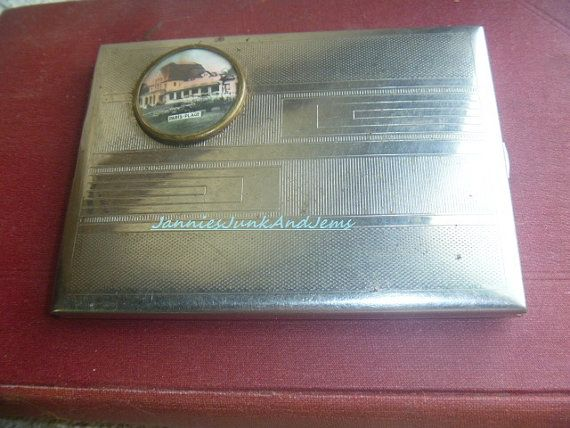 Paris France Souvenir Cigarette Case by TinTack on Etsy, €25.00