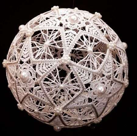 Advanced Embroidery Designs.Battenberg lace snow balls. Instructions on how to embroider andassemble the machine embroidery designs.