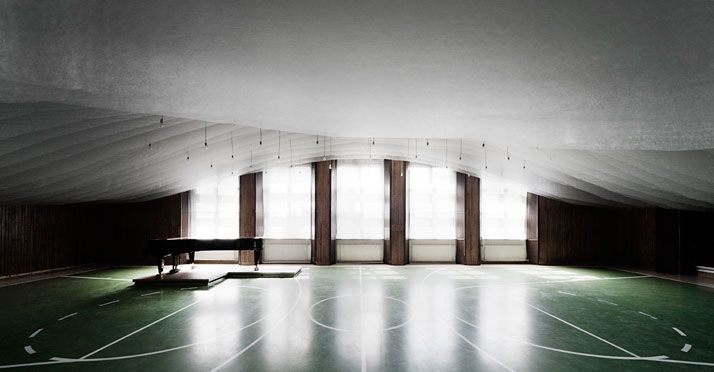 A Gym Is Transformed Into A Concert Hall In The Pannonhalma Archabbey, Hungary  http://www.absurdum.gr/arhitektoniki/a-gym-is-transformed-into-a-concert-hall-in-the-pannonhalma-archabbey-hungary/
