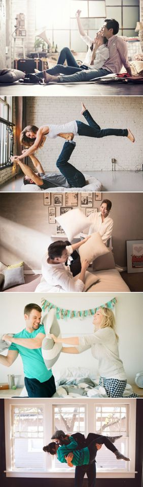 This would be cute for an engagement. Showing the goofy, playful side of y'all's relationship that only mostly you two get to see. That would be adorable.