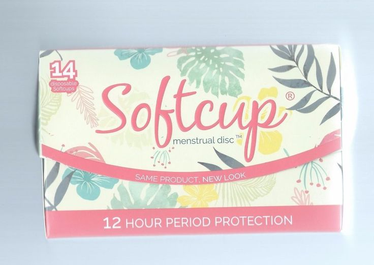 SOFTCUP DISPOSABLE MENSTRUAL PERIOD CUP  Box of 14 Softcups #FlexCo