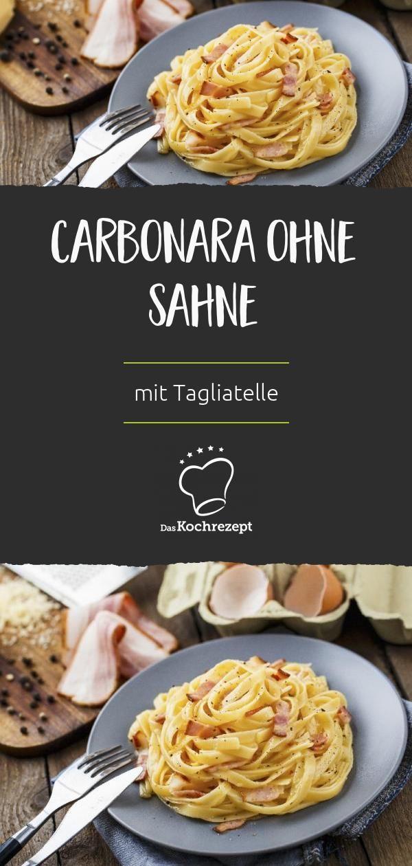 Carbonara ohne Sahne