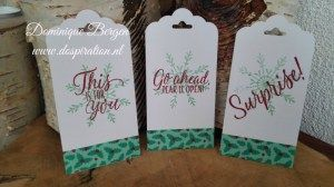 stampin up christmas tags, dsp, tin of tags, washi tape, by dospiration, kerst cadeau labels