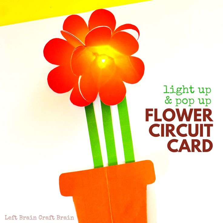 Combine STEM learning and a cool creative project with this Light Up & Pop Up Flower Circuit Card. It's perfect for Mother's Day!