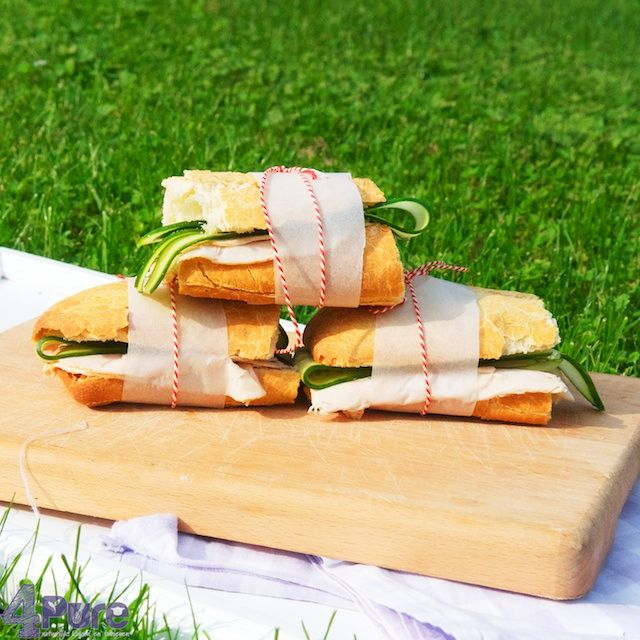 Picnic week: sandwiches on the go | 4Pure #picnic #lunch #sandwich #ciabatta #lunch #ham #chicken #luxe #summer #4pure http://www.4pure.nl