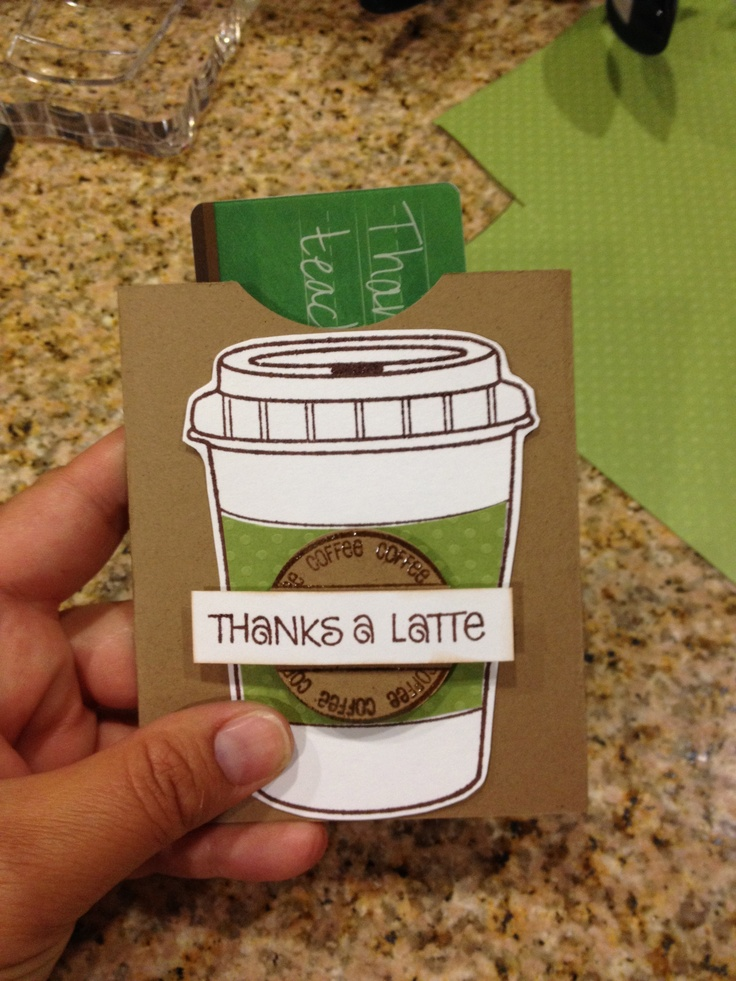 Starbucks gift card holder (stamps: The Stamps of Life), made a library book pocket to hold the actual card