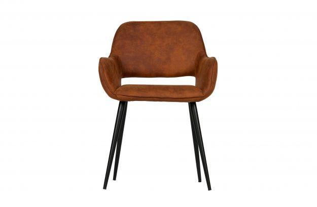 Set v 2 jelle stoel met uitsparing cognac | Stoelen & eetbanken | Eetkamer | Woood