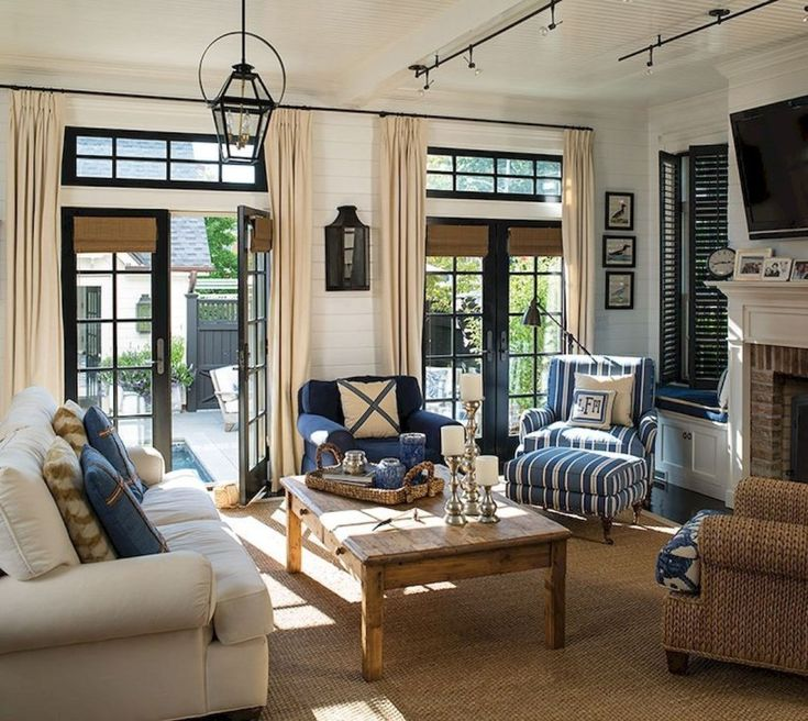 45 Inexpensive Lake House Living Room Decorating Ideas