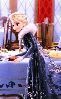 Look how happy Elsa is!