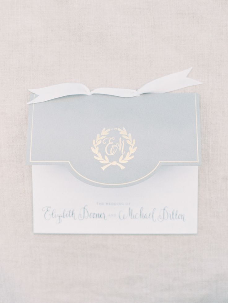 Soft gray programs: http://www.stylemepretty.com/2014/05/01/oh-so-classic-nautical-wedding/ | Photography: Erich McVey Photography - http://erichmcvey.com/