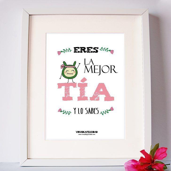 Lámina para la mejor tía  Disponible en www.virusdlafelicidad.com  #virusdlafelicidad #lamina #tia #lamejortia #regalo #deco #hogar #casa #micasa #sobrina