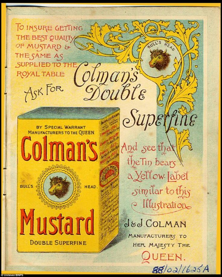 An up-market Victorian advert from 1895. Founded in Norwich in 1814 by Jeremiah Colman, the hot condiment made from Norfolk mustard seeds soon became a family favourite at dinner tables throughout the Empire