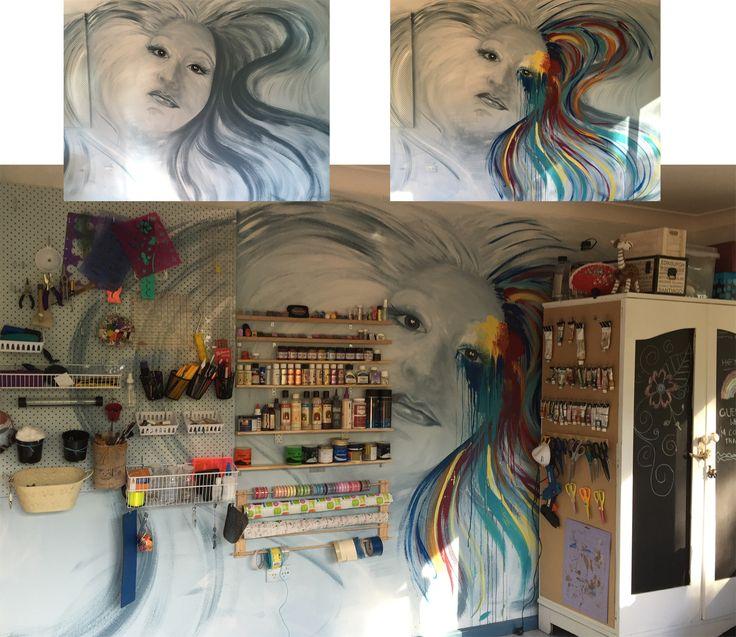 Self Portrait on Art Studio Wall  By Bron Lowe @ Projectguru.com.au