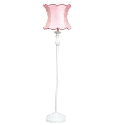 75 best lamps images on pinterest floor lamps floor standing pink scallop hourglass shade on ridged white floor lamp aloadofball Gallery