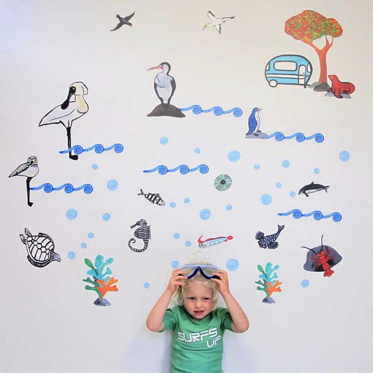 Beach Baby wall decal