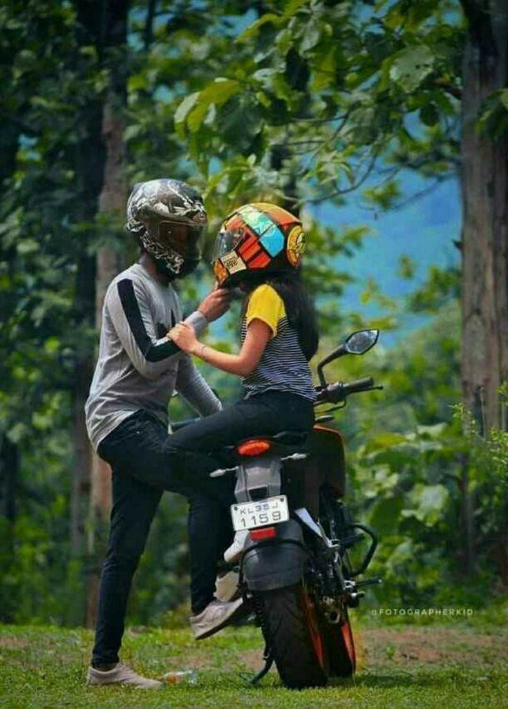 Dukelove Lovers In 2021 Biker Couple Bike Couple Bike Photoshoot Get ktm duke couple wallpaper png