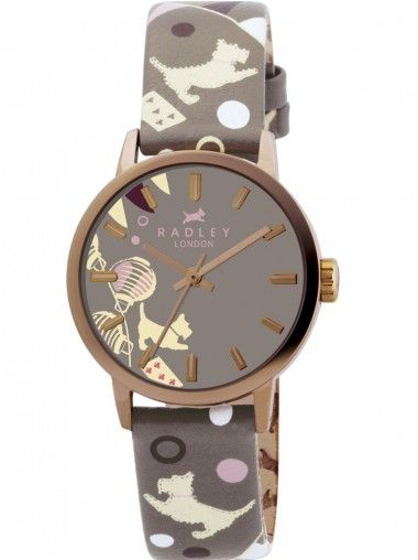 RADLEY Rose Gold Plated Brown Logo Strap Brown Dial Watch RY2068
