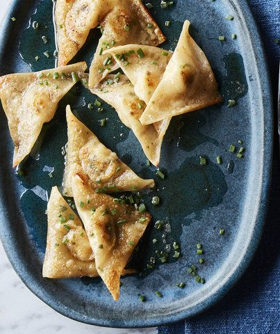 Scallop and Chive Dumplings in Brown Butter   RealSimple.com