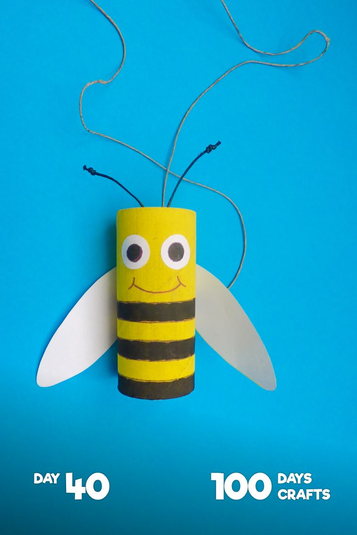 Little Bee  It's no secret that bees are in trouble.  That's why it's so important to cherish every single one of them - especially on today's #DontSteponaBeeDay ! Plus the bee is perfect for #kidscrafts ! Its black and yellow lines are great for #premath sequencing encouragement.  See how to craft this black and yellow fellow in our app (bio). Once you're finished, hang your little bee somewhere in your home and show them your support! #100days100crafts #crafteveryday #bees #beesknees
