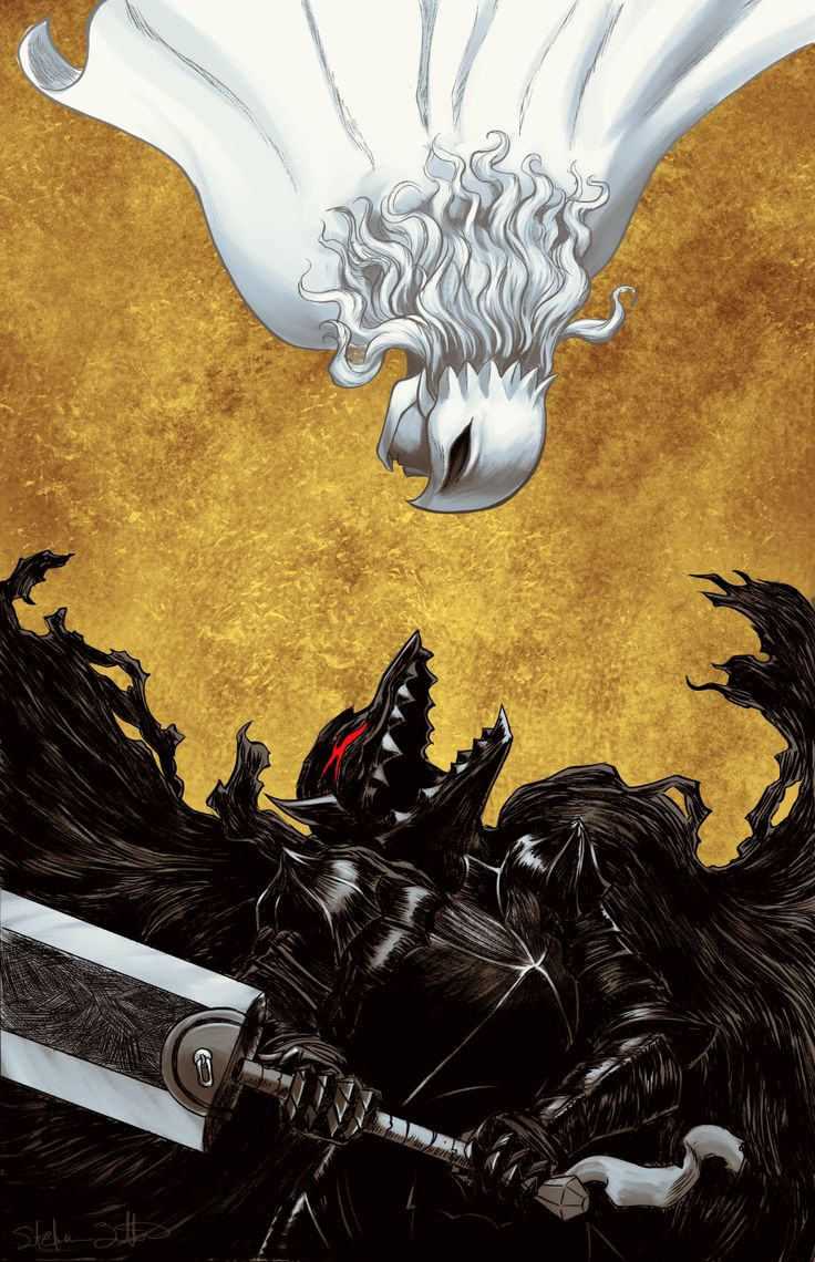 Tags: DigitalART Manga Fanart Anime Berserk Guts Gattsu Gatsu Beast of Darkness Berserker Dragonslayer Branded Griffith Hawk of Darkness White Hawk