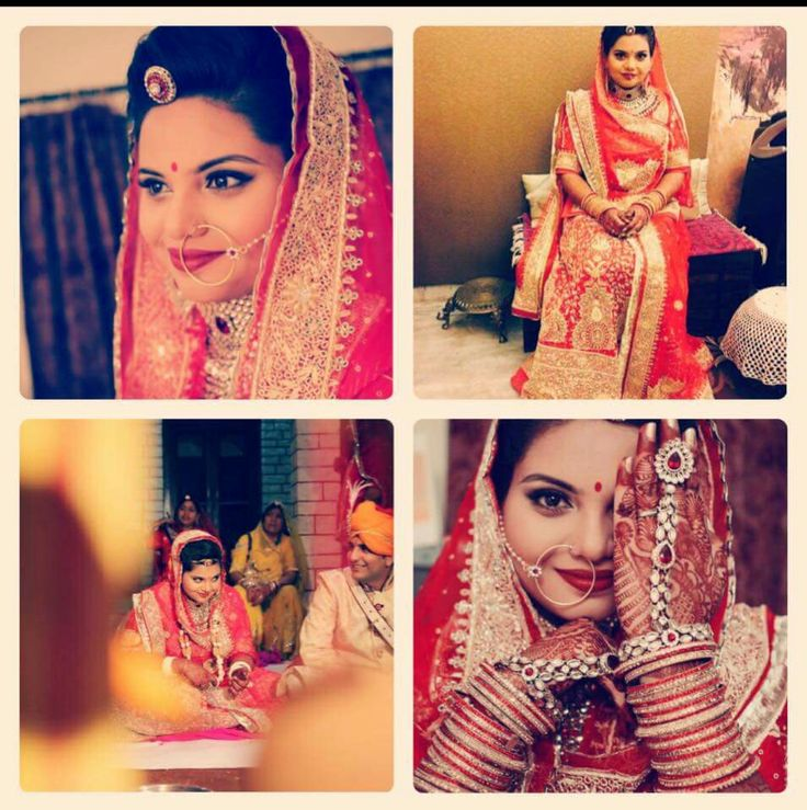 Stunningly beautiful rajput bride on her wedding day wearing red #poshak