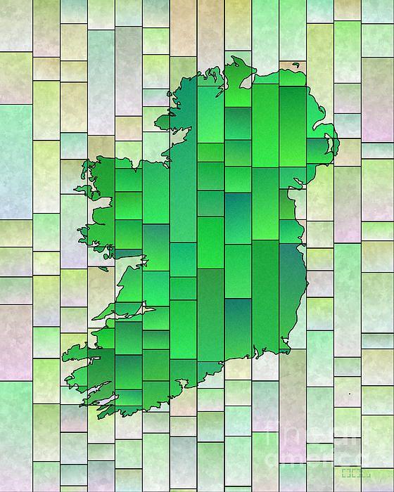 Ireland Map Glasa Pale Green by elevencorners. Ireland map wall print decor. #elevencorners #mapglasa #ireland