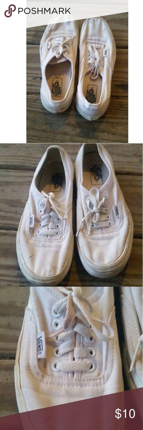 White Vans skate shoes White Vans skate shoes sneakers Vans Shoes Sneakers