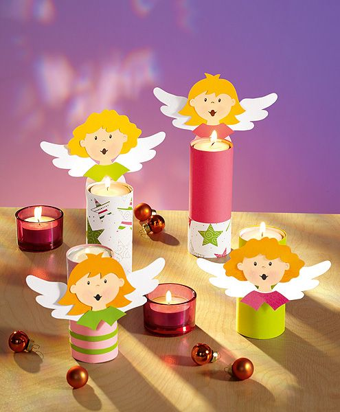 Tischdeko - Engel für die Weihnachtstafel