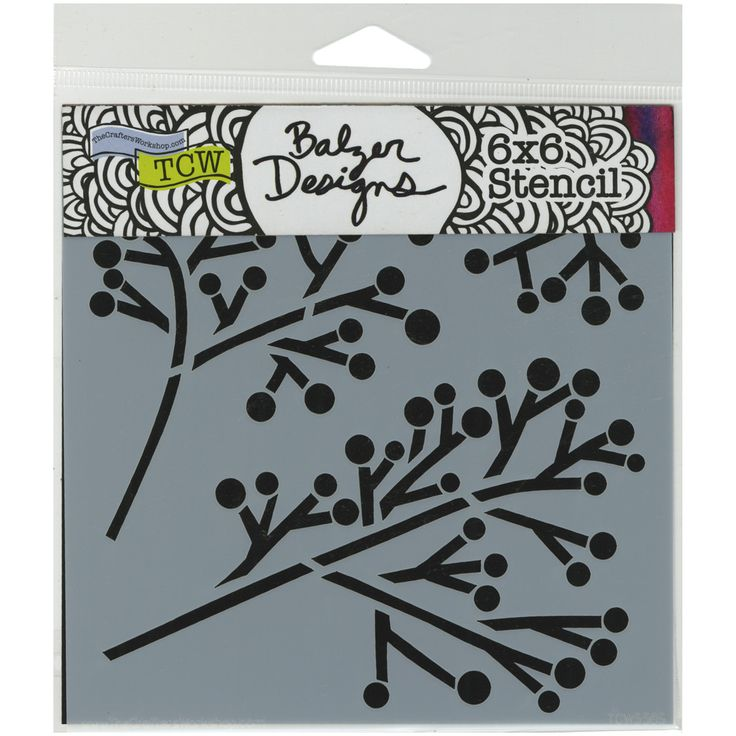 "Crafter's Workshop Template 6""""X6""""-Twig & Berries"