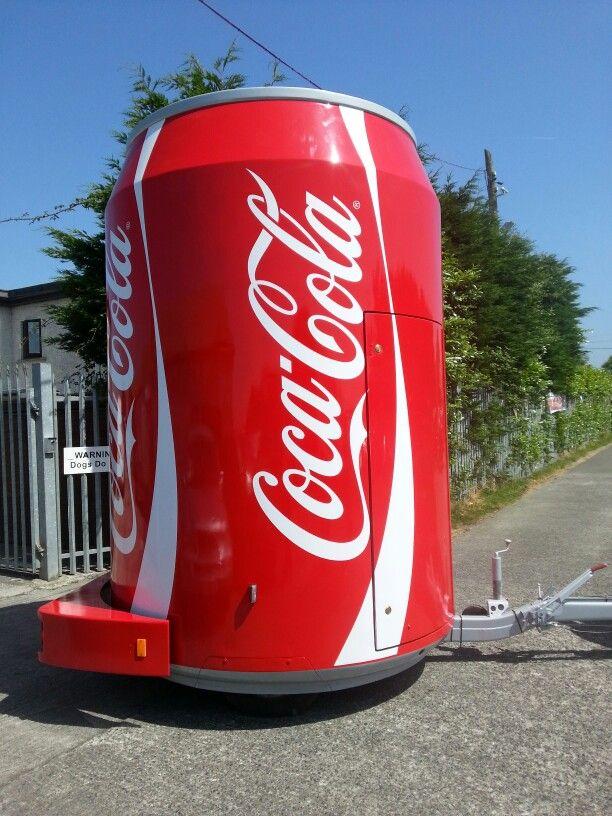 Coca cola can catering trailer rebrand #eventpro #graphics