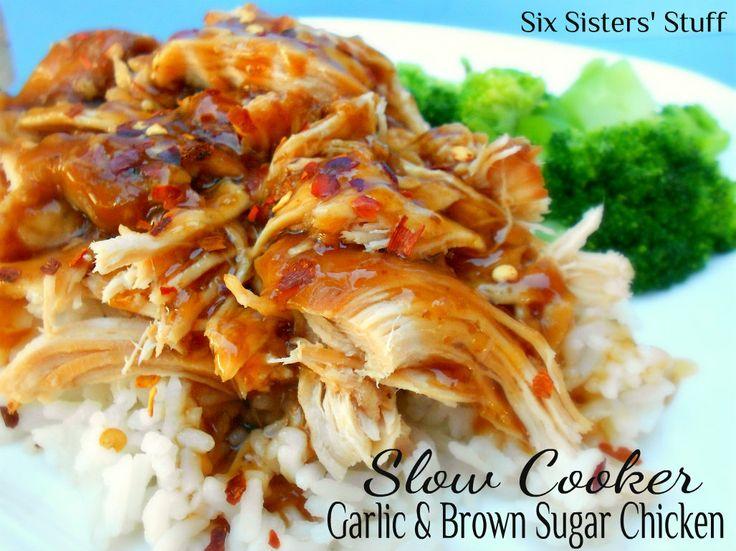Slow Cooker Garlic and Brown Sugar ChickenBrownsugar, Brown Sugar Chicken, Crock Pots, Cooker Garlic, Soy Sauce, Slowcooker, Slow Cooker, Six Sisters Stuff, Chicken Breast