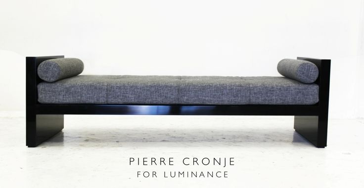 This H-style ottoman in French Polished Mahogany was custom designed for Luminance by Pierre Cronje