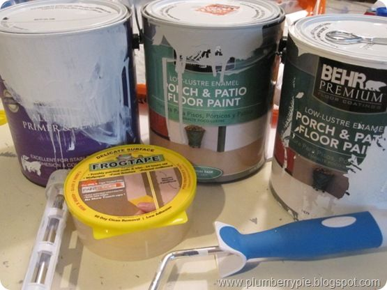 products and how to paint subfloor {plumberry pie}