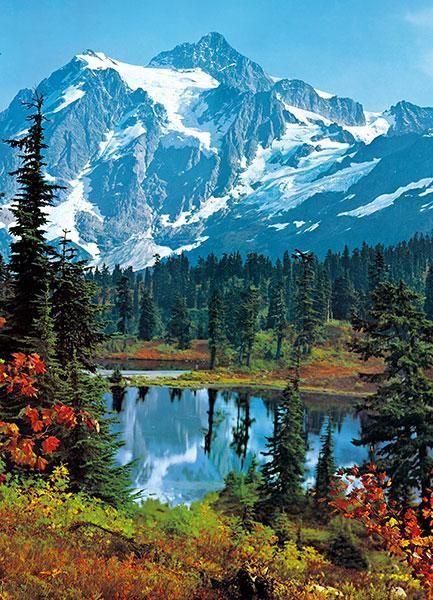 Fototapet Mountain Peak - en storformat foto tapet för hemmet eller kontor!