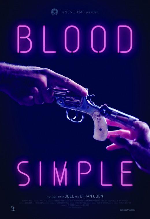 Blood Simple (1985) directed by: Joel Coen starring: John Getz, Frances McDormand, Dan Hedaya, M. Emmet Walsh