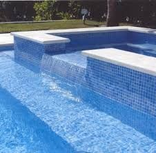 iridescent glass pool waterline tiles - Google Search