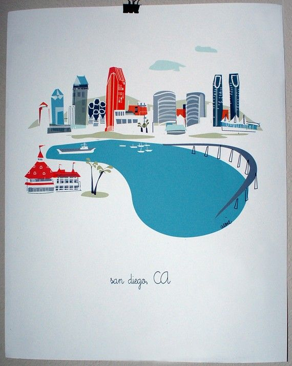 San Diego by albiedesigns on Etsy