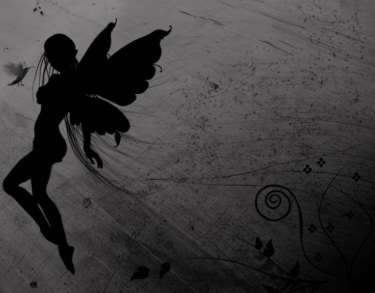 ~~Fairies Dust, Fairies Silhouettes, Dark Fairies, Fantasy Art, Faeries, Dark Side, Tattoo, Fairies Shadows, Fairies Tales