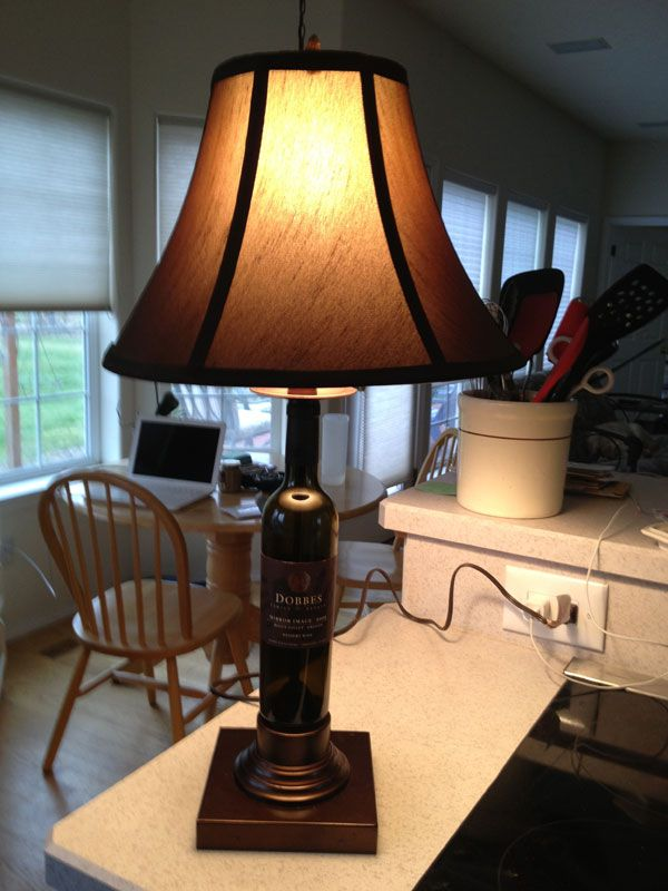 Dobbes Wine Bottle Lamp with Base by