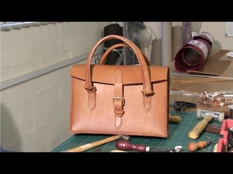 ▶ Hand Stitched Ladies Leather Handbag - YouTube--great video showing the tools, stiching and methods. This doesn't look all that difficult.