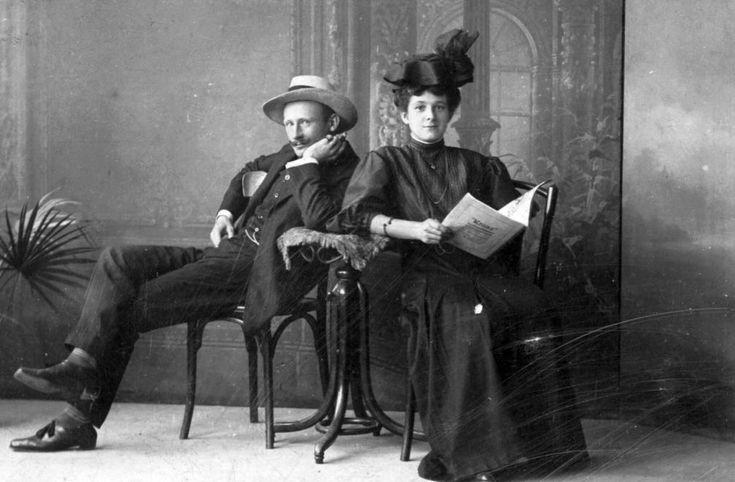 Férfi és nő (1900) - Forrás: fortepan.hu