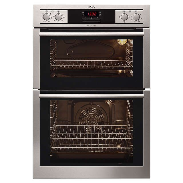 aeg dc4013001m builtin double electric oven stainless steel