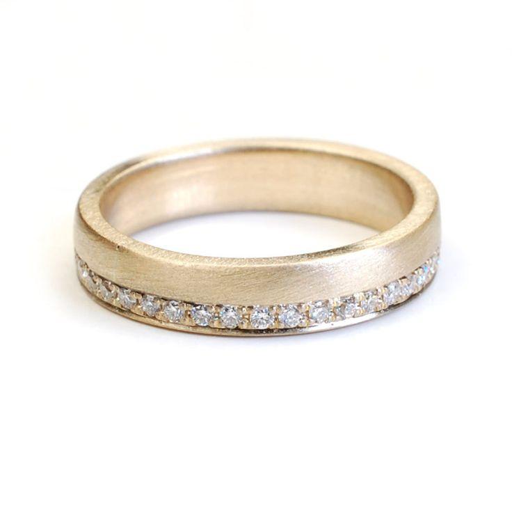 Wedding Band Eternity Band Gold and Diamond Wedding Band by NIXIN, $1,175.00