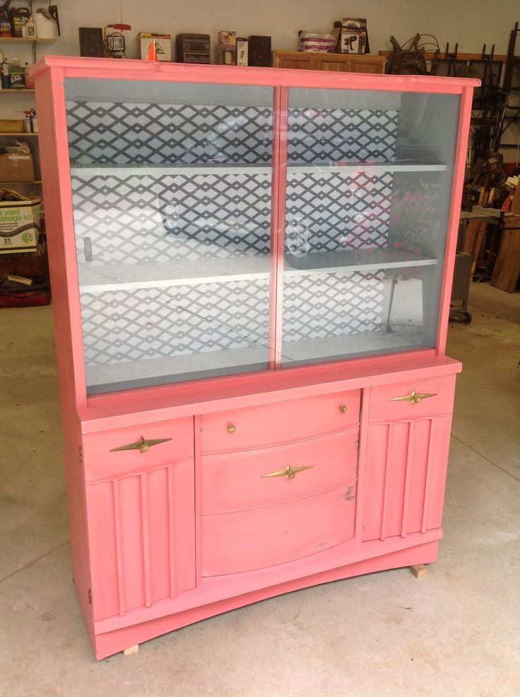 Mid-century modern hutch given new life.