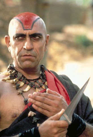 "Amrish Puri in ""Indiana Jones and the Temple of Doom"" (1984). DIRECTOR: Steven Spielberg."