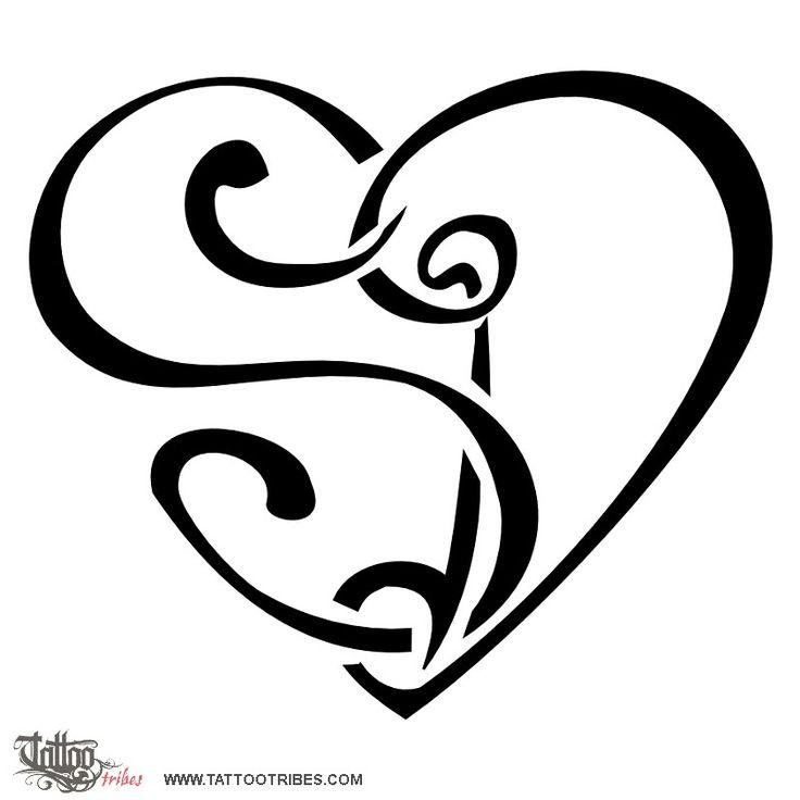 TATTOO TRIBES - Dai forma ai tuoi sogni, Tatuaggi con significato - cuorigramma, cuore, lettere, unione, amore, legame